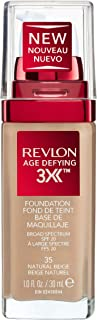 Revlon Age Defying 3X Foundation, Natural Beige, 30ml