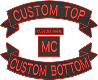 Custom Embroidered Full Vest Biker 4pc (Iron on) Patch Set - 13.5