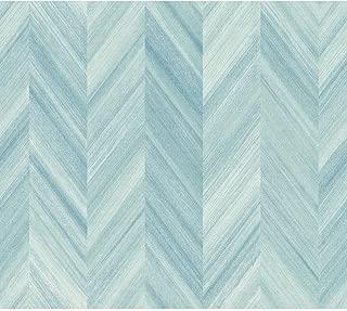 York Wallcoverings GE3602 Ashford Geometrics Gradient Chevron Wallpaper, Variations of Blue