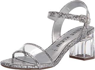 Anne Klein Women's CABALINA Heeled Sandal, Silver, 7.5