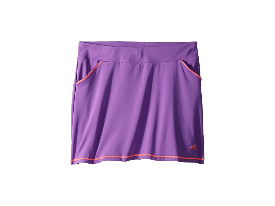 Image of adidas Golf Kids Solid Golf Skort (Big Kids) (Active Purple) Girl's Skort
