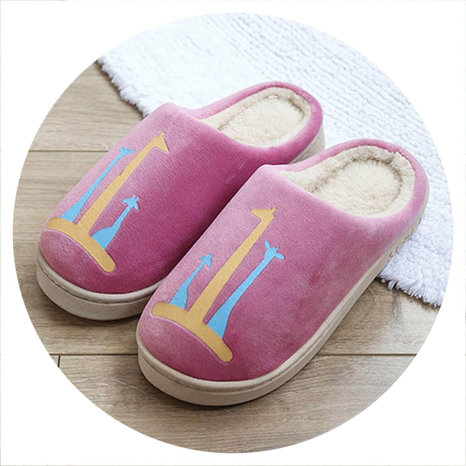 Together to create a miracle 2018 Indoor Slipper Soft Plush Cotton Cute Home Slippers shoes Floor Home Furry Women for