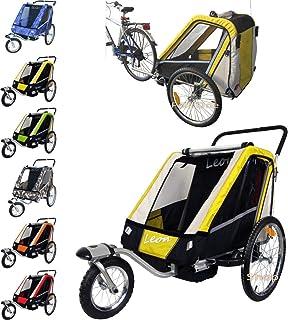 PAPILIOSHOP LEON Remorque à vélo poussette chariot pour 1
