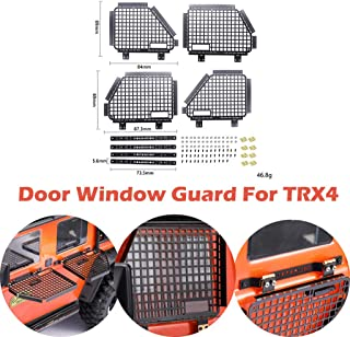 Gbell  1/10 Scale RC Crawlers Metal Door Window Guard Protection Set for TRX4 RC4WD D90 D110 Land Rover Remote Control Car Accessories