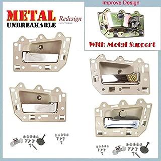 05-11 Jeep Grand Cherokee Inside Door Handle Set 4PCS Tan Beige & Chrome DS291 05 06 07 08 09 10 11