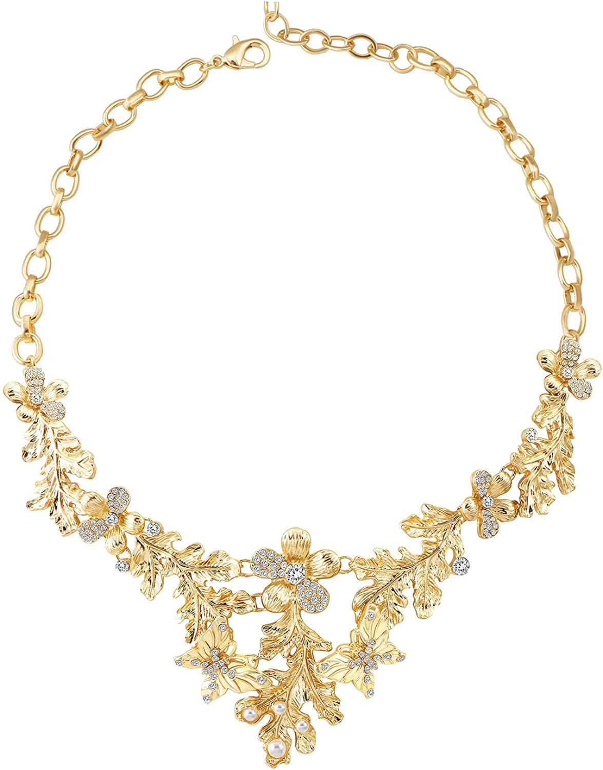 Gold Statement Butterfly Necklace for women,Elegant Love Story Necklace Gift for Women