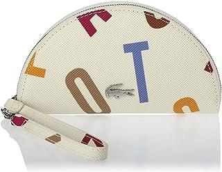 LACOSTE Women's Card & ID Cases Clutches Shoulder Bag, Color: White