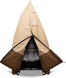 DAMMLIO Hanging Chair Cover with Drawstring Air Vents, Handles and Zipper, Heavy Duty Waterproof 600D