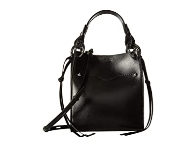 Rebecca Minkoff Kate Mini North/South Tote (Black) Handbags