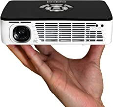 AAXA Technologies P300 Pico Projector with Rechargeable Battery - Native HD resolution with 500 LED Lumens, For Business, Home Theater, Travel and more (KP-600-01) (Renewed)
