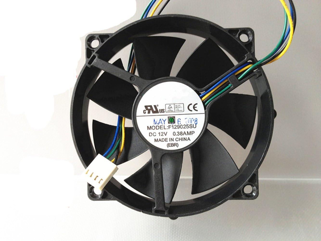 Ventilador de refrigeración para computadora F129025SU 9025 90/80 mm x 25 mm ventilador redondo CPU 12 V 4 pines 0.38 A ventiladores enfriadores
