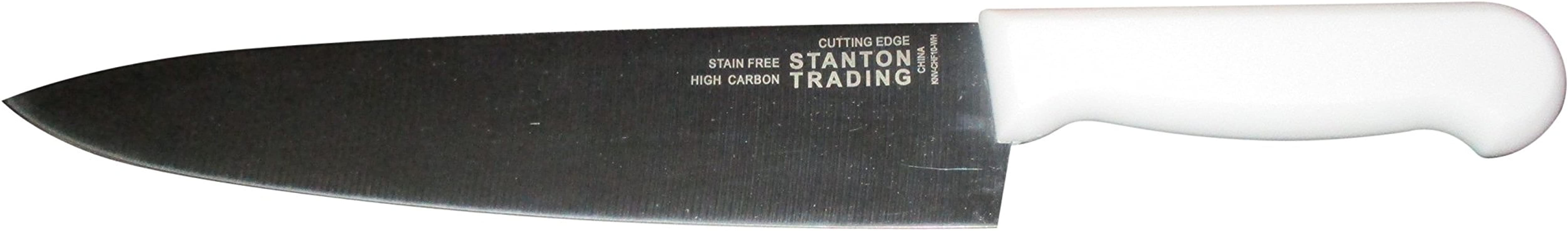 Stanton Chef Knife Commercial Series 10 With White Plastic Handle 1