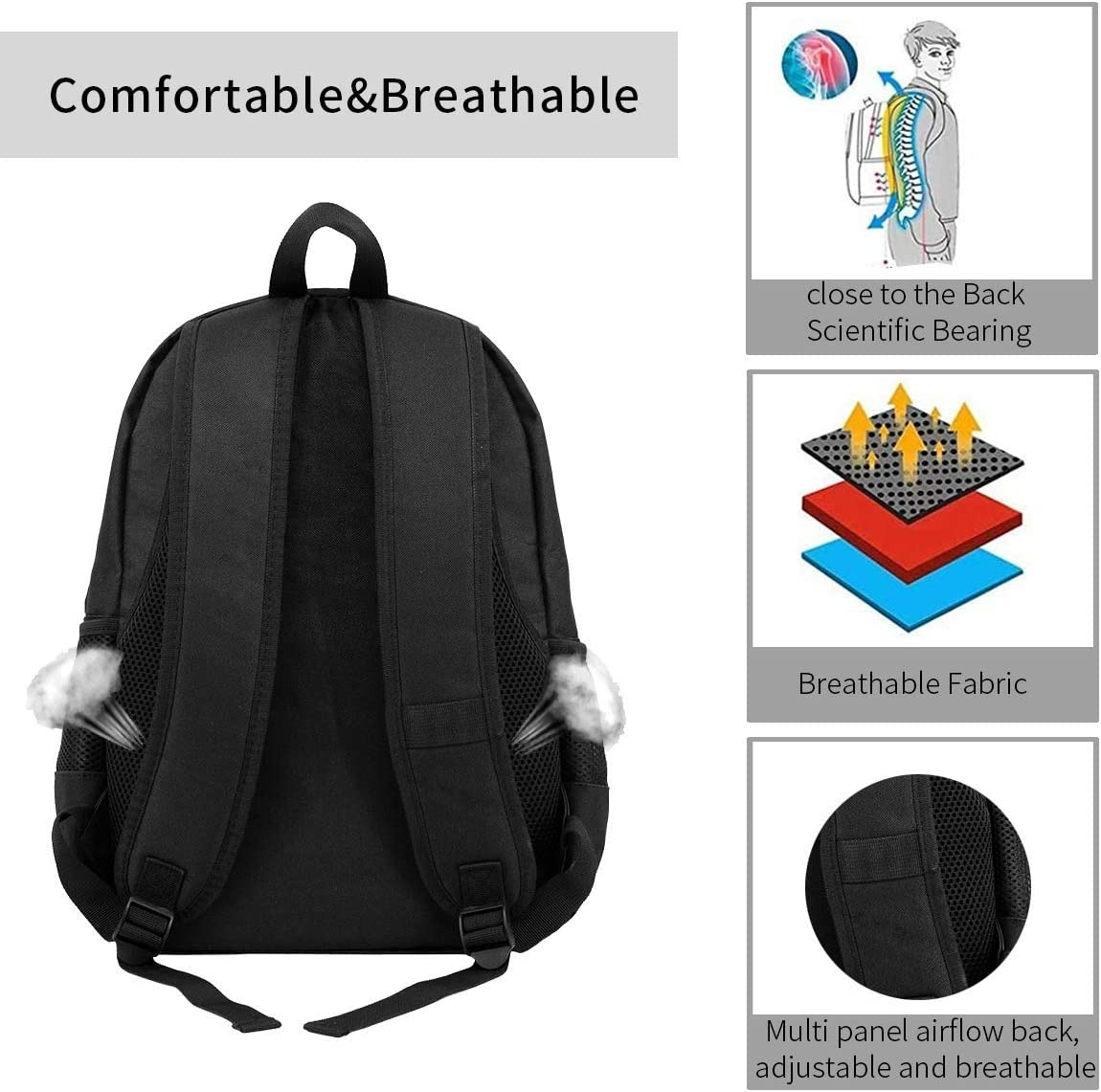 Abstract Butterfly Unisex Casual Backpack Can Hold 15-Inch Laptop Bag Stylish and Lightweight