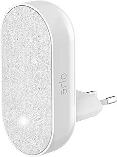 Arlo Smart Chime kabellose Klingel (für Arlo Doorbell, akustisches und visuelles Signal, einstellbare Lautstärke und eingebaute Sirene, kompatibel mit Arlo Ultra, HD, Pro, Pro2, Pro3) grau, AC1001