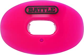 Battle Oxygen Lip Protector Mouthguard – Football and Sports Mouth Guard – Maximum Oxygen Supply – Mouthpiece Fits With or Without Braces – Impact Shield Protects Lips and Teeth