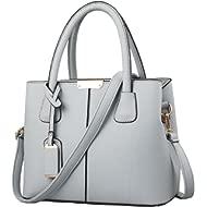 Stylish Women Pu Leather Vertical Utility Top Handle Handbag Satchel Tote Purse Bag