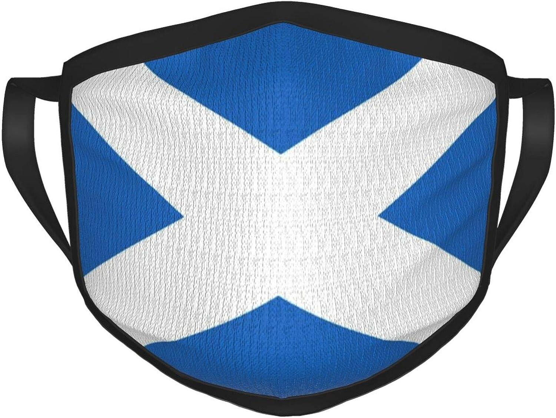 LANJYF 2 Packs Washable Mouth Wear, Scotland Flag Unisex Face Cloth