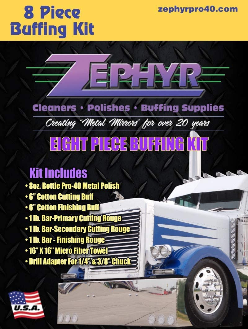 Challenge National products the lowest price of Japan ☆ Zephyr Products BUFFKIT08 Wheel Kit Polishing
