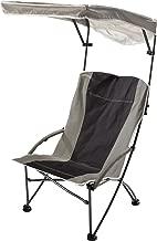 Quik Shade Pro Comfort High Back Shade Folding Chair, Tan/Black