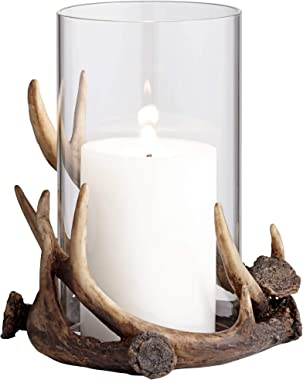 Kensington Hill Abie Brown Antler Candle Holder with Glass Tube