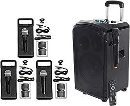 "Rockville 10"" Portable YouTube Bluetooth Karaoke Machine/System+(4) Microphones"