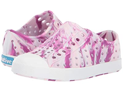Native Kids Shoes Jefferson Marbled (Toddler/Little Kid) (Blossom Pink/Shell White/Marbled) Girls Shoes