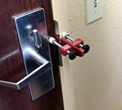 Travelers Security Lock - Portable Door Lock - Prevent Entry From The Outside - Rest Assured That Our Lock Will Hold Up To The Toughest Of Tests - Works With All Doors Left Or Right Handed -Made in US