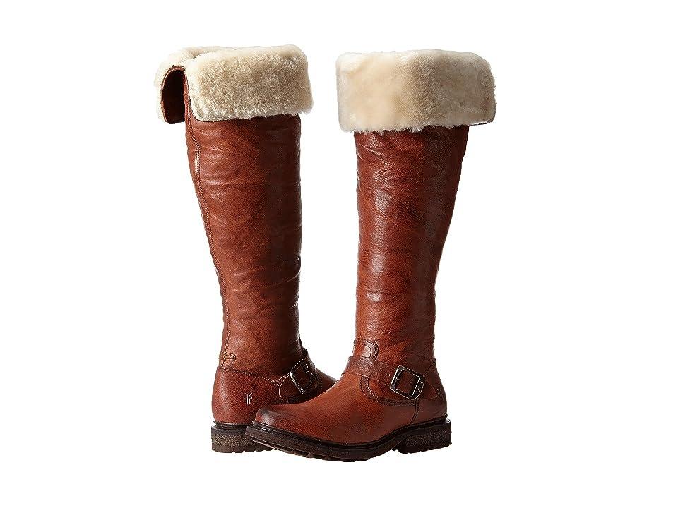 Frye Valerie OTK (Cognac Antique Soft Vintage/Shearling) Cowboy Boots