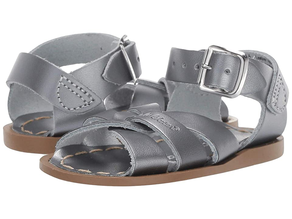 Salt Water Sandal by Hoy Shoes The Original Sandal (Infant/Toddler) (Pewter) Girls Shoes