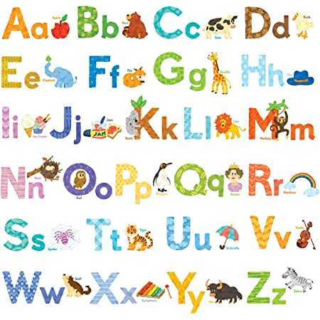 Alphabet Letter for Kids Toddlers Educational Animal Stickers HK STUDIO Cute Animal Alphabet Stickers Kindergarten Matching ABC Learning For Preschool ABC Stickers for Kids Learning in Classroom