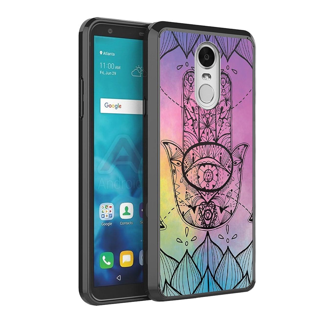 Capsule Case Compatible with LG Stylo 4 Plus, LG Stylo 4, LG Q Stylus [Slim Armor Scratch Resistant Slim Anti-Slip Protective Phone Cover Black Case] for LG Stylo 4 - (Lotus Hamsa) c9741305193