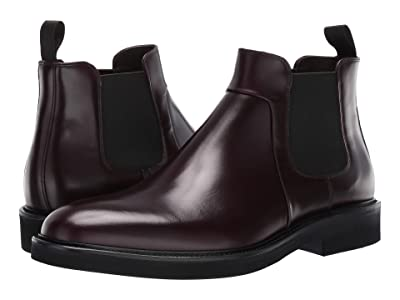 Canali Brushed Calf Ankle Boot (Burgundy) Men