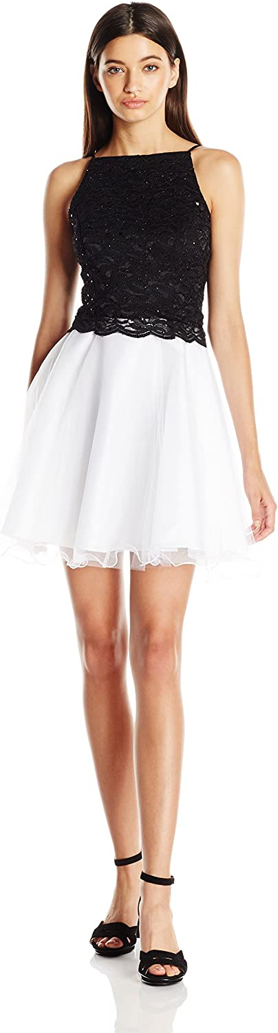 JUMP Womens Tulle Skirt Party Dress with Glitter Lace Top Dress