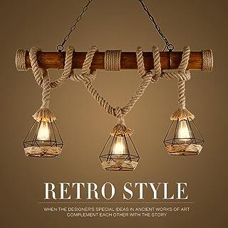 Amazon.es: lamparas de techo rusticas de madera