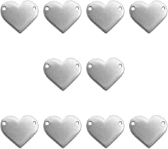 10 Impressart Pewter Heart Stamping Blanks, Soft Strike Pewter 1