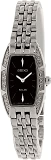 Seiko Women's SUP149 Stainless Steel/Black Stainless Steel Watch