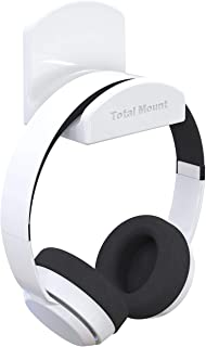 TotalMount for Headphones – Will Not Damage Your Wall With Screws or Permanent Adhesive (Premium White – One Pack)