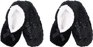 Calcetines de forro antideslizantes para mujer, muy suaves, cálidos, acogedores, peludos, para adultos