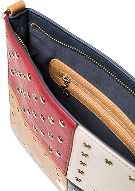 2x23x30.5 cm Navy Desigual Bag Torino Molina Women Bleu B x H T Sacs bandouli/ère femme