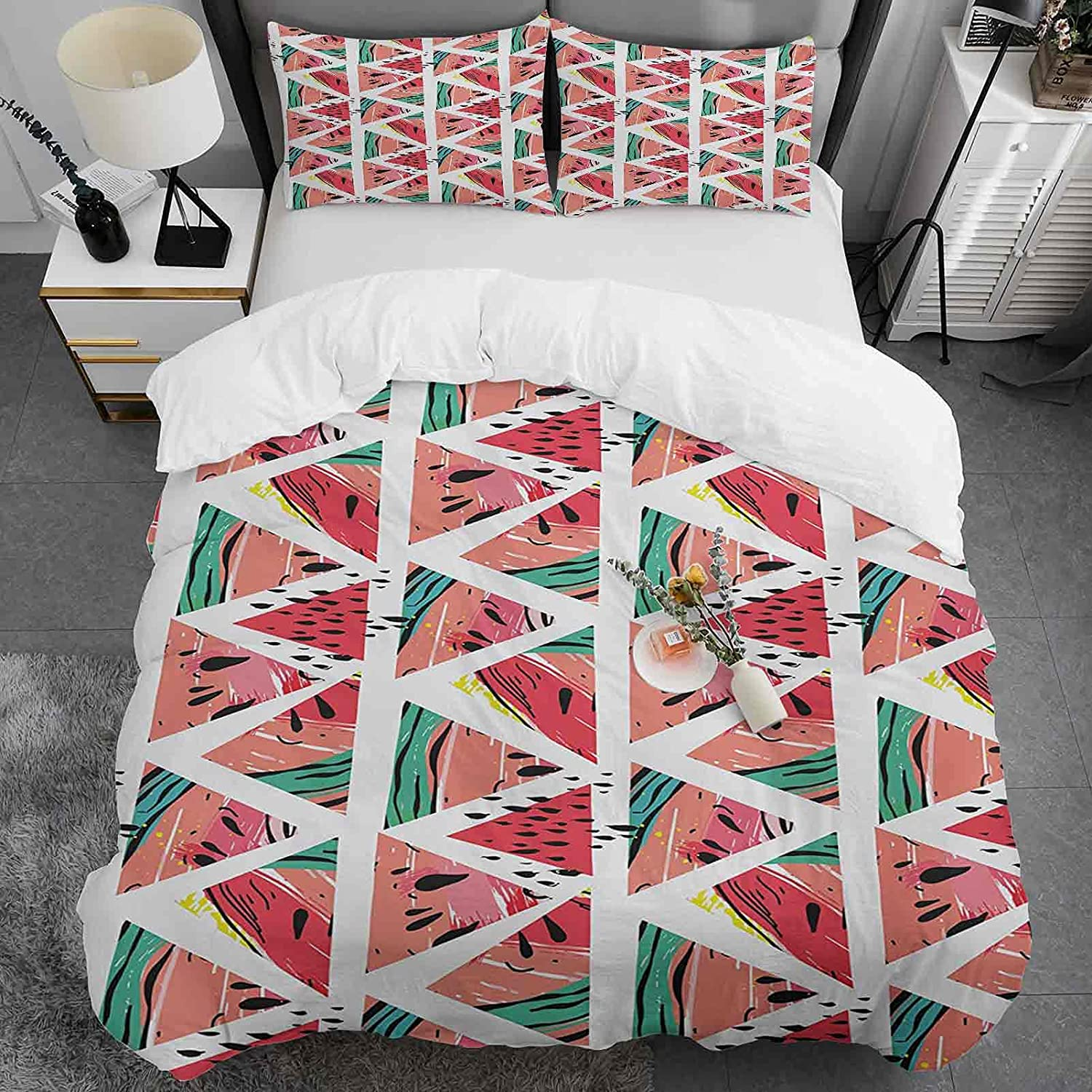 Watercolor Special sale item Duvet Cover Set Twin Size Patter Attention brand Abstract Watermelon