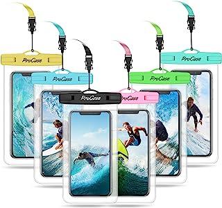 ProCase Funda Impermeable Móvil Universal [6 uds.], Bolsa Estanca IPX8 para iPhone XS Max/XR/X/8/7+/6S/6S+, Galaxy S10/S10e/S9/S9+/Note8, Pixel Huawei Xiaomi Redmi Honor LG BQ hasta 6.5