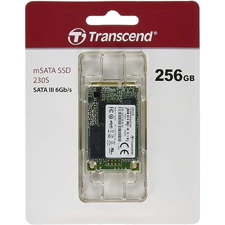Transcend mSATA SSD 256GB SATA-III 6Gb/s DDR3キャッシュ搭載 3D TLC 採用 TS256GMSA230S
