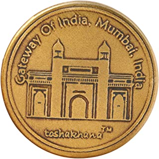 Toshakhana 1202 Bottle Opener Cum Fridge Magnet Brass G Gateway of India Mumbai MH India Souvenir