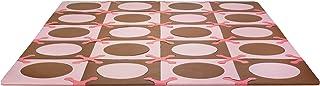 美国 SKIP HOP 地垫 爬行垫 游戏垫 粉红色/棕色20块 组合尺寸178 x142 x1.27(厘米)SH245009