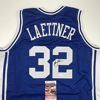 9fee5848126 Autographed Signed Christian Laettner Duke The Shot Blue College Basketball Jersey  JSA COA