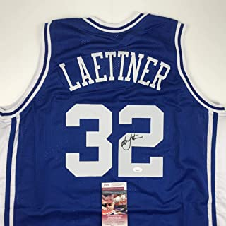 christian laettner autographed jersey