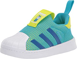 adidas Originals Kids' Superstar 360 Sneaker, Signal Cyan/Royal/Black, 8K