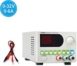 DC Power Supply Variable (0-32V 0-6A) Adjustable Switching Regulated Bench Power Supply 5-Storage MPS-3206 4 Digits Display OVP OCP 110V/220V with Alligator Clip