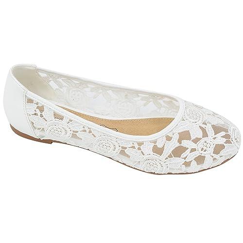 1b8c89e1822 Greatonu Women Shoes Cut Out Slip On Synthetic Lace Ballet Flats