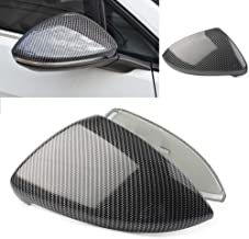 Newsmarts 2x Carbon Fiber Color Replacement Side Mirror Cover Caps Compatible with VW Golf MK7 MK7.5 GTI R